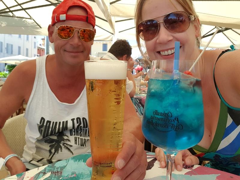 Patrick en Yvonne bij Bardolino Gardameer