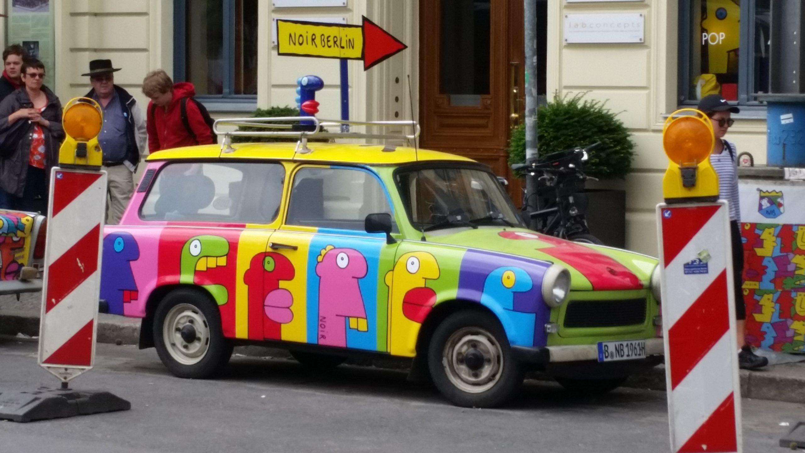 Trabantje in Berlijn