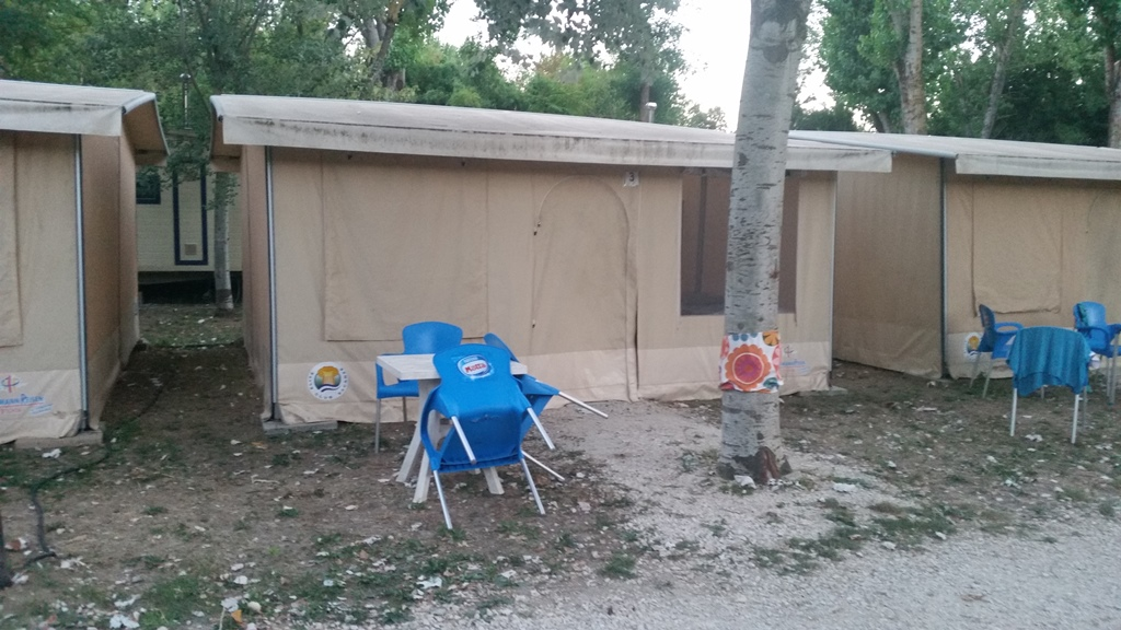 De tent waarin ik sliep