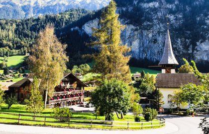 Dorpsgezicht in Lauterbrunnen